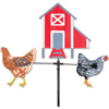 28 in Single Carousel Spinner - Chickens & Hen House