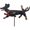 20 in WhirliGig Spinner - Black  n Tan Dachshund